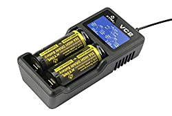 Xtar VC2 Li-Ion Battery Charger Features an innovative tachometer-style LCD display screen. lithium-ion battery charger that features an innovative tachometer-style LCD display screen. compatible with both IMR lithium batteries and small capacity batteries. Applies to: 10440/14500/14650/16340/17500/17670/18350/18500/18650/18700/22650/25500/26650 3.6/3.7V Li-ion batteries