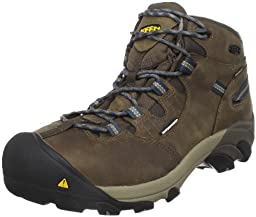 KEEN Utility Men\'s Detroit Mid Steel Toe Work Boot,Slate Black,8 D  US