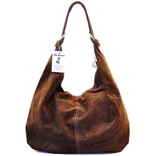SAC DESTOCK - Women Leather Handbag - Carried HAND & SHOULDER - Ref: IBIZA - Leather Suede