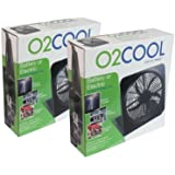"""O2Cool NEW 10"""" Battery Operated Fan with Adapter pack of 2"""