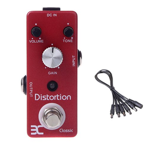 Global Sale Eno Tc-15 Classic Distortion Electric Guitar Effect Pedal+5 Way Daisy Chain Cable