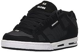 Globe Men\'s Sabre Walking Shoe, Black/Carbon/White, 7.5 M US