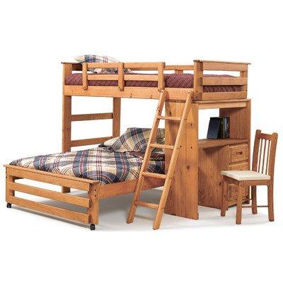 Loft Bed Over Desk 9264 front