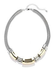 M&S Collection Tri-Tube Chain Necklace