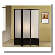 Folding Room Divider with Translucent Screen