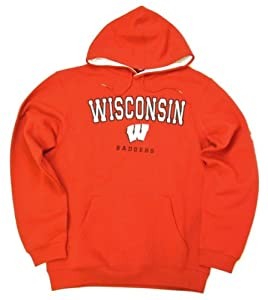 adidas Wisconsin Badgers Revised Playbook Hooded Sweatshirt by adidas