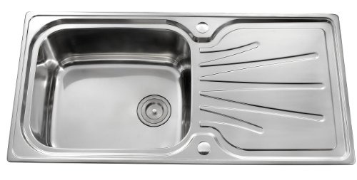 Single Bowl Stainless Steel Kitchen Sink With Tap and Complete Plumbing Kit