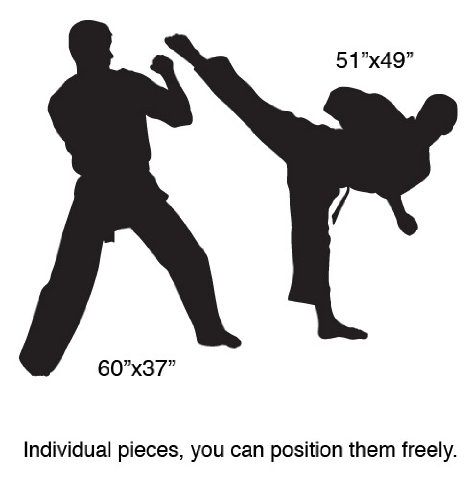 Vinyl Wall Art Decal Sticker Karate Martial Arts Dual 5ft Tall