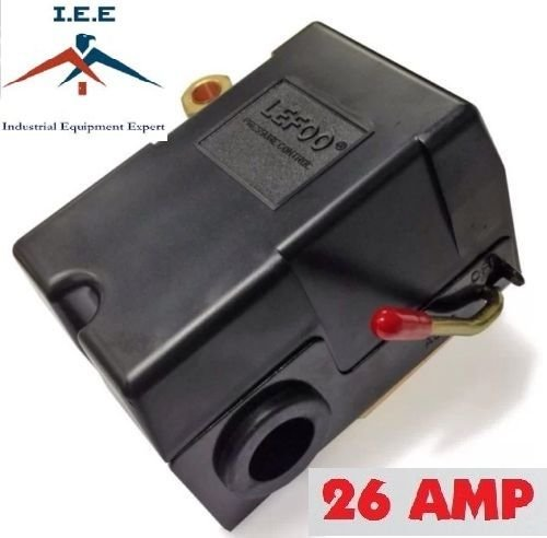 Heavy Duty 4port 26 Amp Air Compressor Pressure Switch Control Valve 140-175 PSI (12v Air Pressure Switch compare prices)