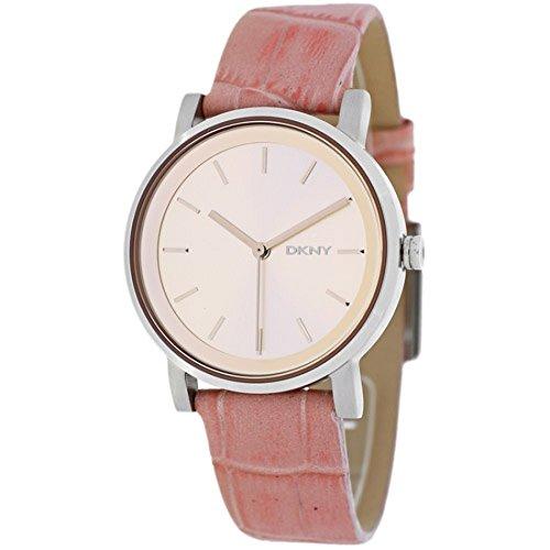 DKNY NY2242 rosa correa de piel 34 mm reloj de mujer