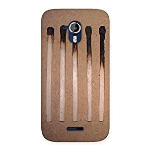 Premium Burned Matchsticks Multicolor Back Case Cover for Micromax Canvas Magnus A117