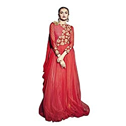 Aagaman Striking Red Colored Embroidered Net Georgette Gown 201 M