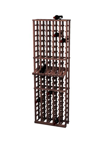 Wine Cellar Innovations Rustic Pine Wine Rack With Display Row For 100 Wine Bottles, 5 Column, Dark Walnut Stained front-535647