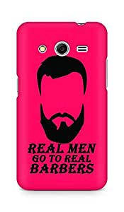 Amez designer printed 3d premium high quality back case cover for Samsung Galaxy Core 2 (Real Men Go to Real Barbers)