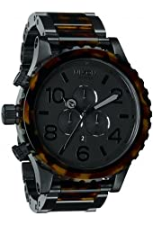 Nixon A083-1061 The 51-30 Chrono Matte Black and Dark Totroise Watch