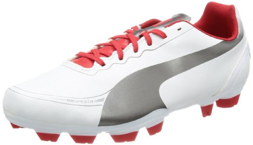 Puma Men's evoSPEED 5.2 FG Football Shoes Black Schwarz (white-aged silver-high risk 03) Size: 10 (44 EU)
