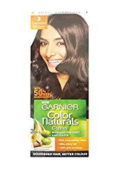 Garnier Color Naturals Shade 3, Darkest Brown, 70ml+40g