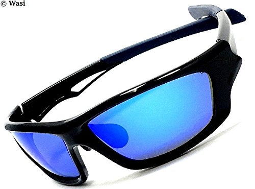 glbp06 偏光機能×FIBER VIEW,BLUE MIRROR 近未来デザイン STYLISH,BLACK UVcut CASE2種+特製クロス 冒険王 (+gcm,clz)