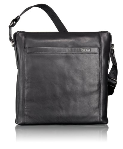 Tumi Luggage Centro Venezia Leather Crossbody, Jet, One Size