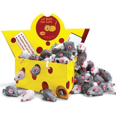 Ratz for Catz – 60 Cat Furry Mice