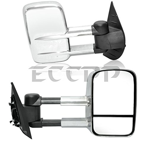 Manual Remote Side View Mirror Pair Set of 2 for Chevy Cobalt G5 2 Door Coupe
