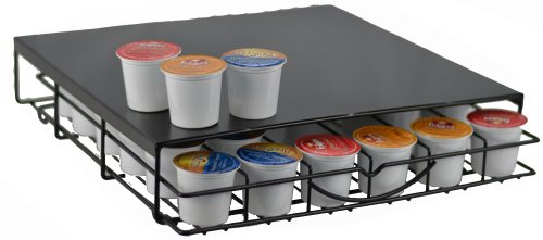Keurig K-Cup Storage Drawer Coffee Holder For 36 K-Cups Black Metal Design
