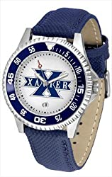 Xavier Musketeers Suntime Competitor Poly/Leather Band Watch - NCAA College Athletics