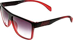 Elijaah Red Large UnisexRectangular Sunglasses 39065_Cherry