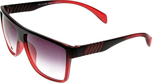 Elijaah Red Large UnisexRectangular Sunglasses 39065_Cherry