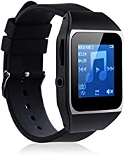 AGPtEK® 8GB Bluetooth Touchscreen Watch MP3 Player 8 Hours Music Playback Music Player for Running (Supports up to 32GB, SD/TF Card or wired headset is not included in the package)