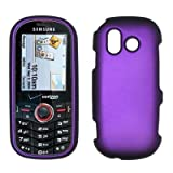 Purple Rubberized Design Snap-On Cover Hard Case Cell Phone Protector for S ....