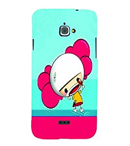 PrintVisa Cute Cartoon Girl 3D Hard Polycarbonate Designer Back Case Cover for Infocus M350