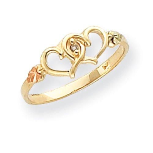 10k Black Hills Gold Ladie's Diamond Ring