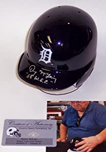 Denny McLain Hand Signed Detroit Tigers Mini Helmet - Autographed MLB Mini Helmets by Sports+Memorabilia