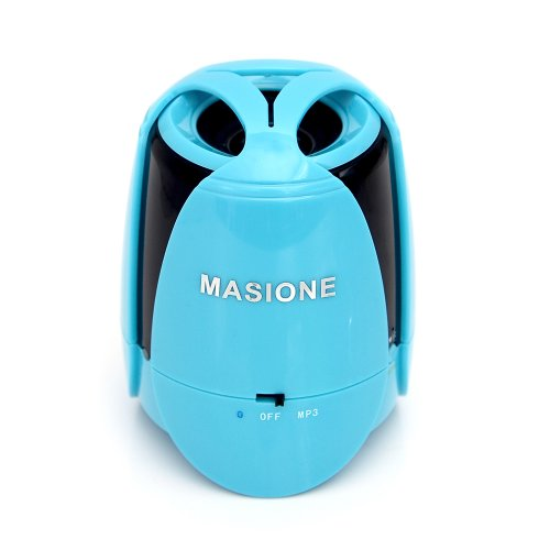 Masione™ Portable Wireless Bluetooth Stereo Speaker With Built In Speakerphone 6 Hour Rechargeable Battery ,Deep Bass Effect,Work For Iphone Ipod Samsung Blackberry Htc Andriod Smartphone And Bluetooth Devices Mp3 Mp4(Blue)