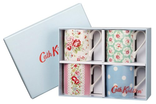 Cath Kidston Multi Larch Mugs in Gift Box