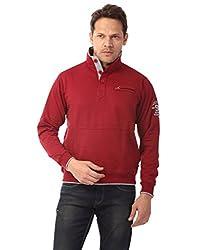 Club Fox Maroon color SWEAT SHIRT for men.