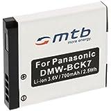 Batterie DMW-BCK7 pour Panasonic Lumix DMC-FP5, FP7, FT20, FT25, FS16, FS18, FS22, FS28