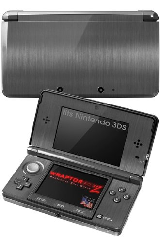 Nintendo 3Ds Decal Style Skin - Brushed Metal Silver front-260136