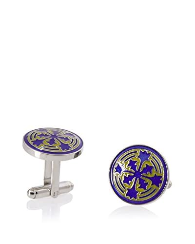L2 by LOMA Blue Firenze Petal Cufflinks