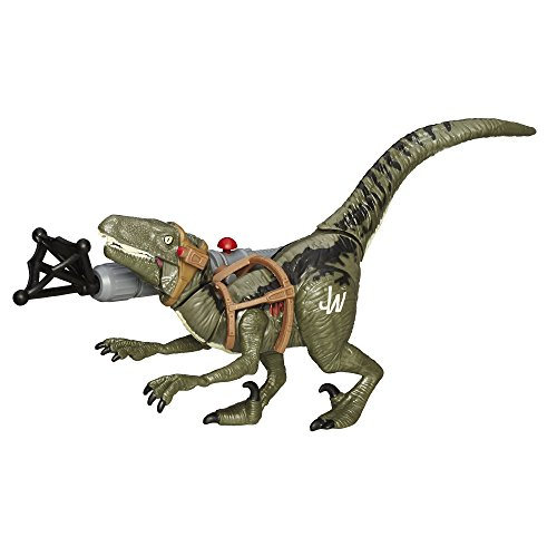 Jurassic World Bashers & Biters Velociraptor Blue Figure