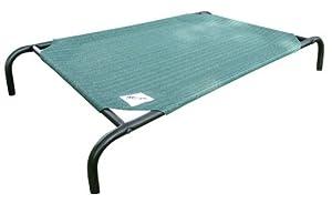 Coolaroo Large Steel-Framed Pet Bed, Brunswick Green