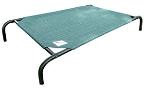 Coolaroo Large Steel-Framed Pet Bed, Brunswick Green