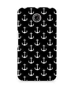 Amez designer printed 3d premium high quality back case cover for Motorola Nexus 6 (Black and white)
