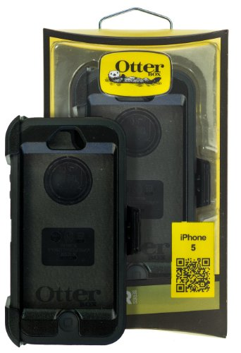 Defender Rugged Protection Case For Iphone 5 - Black On Black