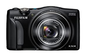 Fujifilm F800EXR 16MP Digital Camera with 20x Optical Image Stabilized Zoom and 3.0-Inch TFT LCD, Black
