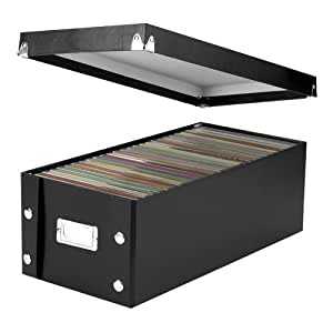 Ideastream Snap-N-Store DVD Storage Box, Holds up to 26 DVDs, Glossy Black with Chrome Accents (SNS01524)