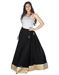 Ambitione Designer Women Black colored Skirt_L
