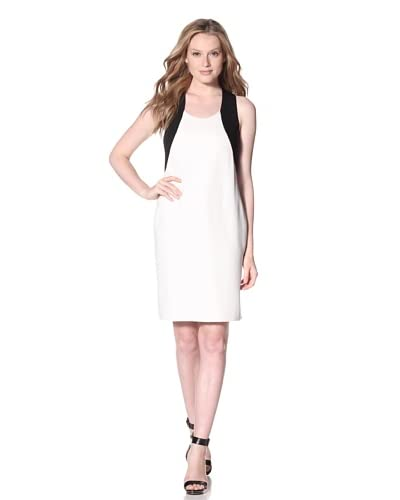 Calvin Klein Women's Colorblock Dress  - Ivory/Black