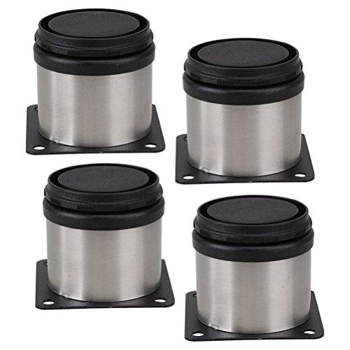 PIXNOR-Mbelfe-Schrankfe-Metall-verstellbar-Edelstahl-Kche-runden-4-er-Pack